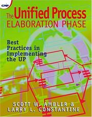 Cover of: The Unified Process Elaboration Phase | Roger Smith