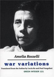 Cover of: War Variations | Amelia Rosselli