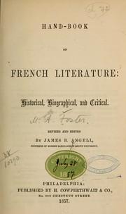 Handbook of French literature
