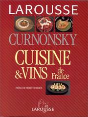 Cover of: Cuisine et vins de France | Curnonsky