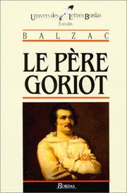Cover of: Le Pere Goriot Extraits | Honoré de Balzac