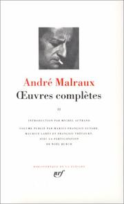 Cover of: Euvres completes | André Malraux