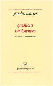 Cover of: Questions cartésiennes | Jean-Luc Marion