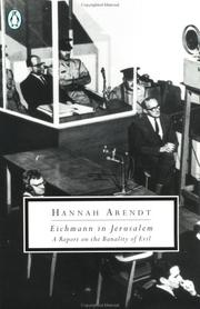 Cover of: Eichmann in Jerusalem by Hannah Arendt