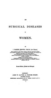 On surgical diseases of women