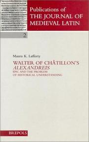 Cover of: Walter of Châtillon's Alexandreis | Maura K. Lafferty