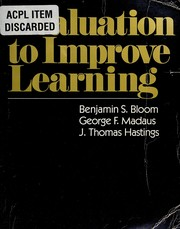 Evaluation to improve learning