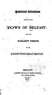 Historical collections relative to the town of Belfast