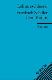 Cover of: Friedrich Schiller, Don Karlos | Bertold Heizmann