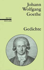 "Cover of: Gedichte (Translation ""Poems"") 